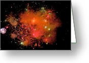 Fire Works Greeting Cards - Ka Boom Greeting Card by Robert Pearson