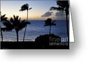 Beach Scenery Greeting Cards - Kaanapali Beach Maui Greeting Card by Rosy Kueng
