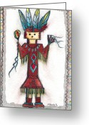N Taylor Greeting Cards - Kachina Doll Greeting Card by N Taylor