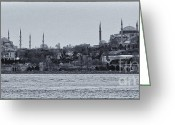 Minaret Greeting Cards - Kadikoy Cruise Greeting Card by Joan Carroll