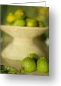 Lime Digital Art Greeting Cards - Kaffir Limes Greeting Card by Linde Townsend