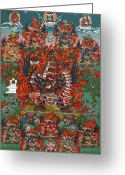 Thanka Greeting Cards - Kagye Tsasum Tersar Greeting Card by Sergey Noskov