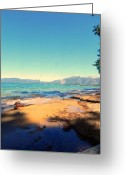 Tahoe Greeting Cards - Kaimu Greeting Card by Leah Moore