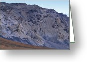 Desolate Landscapes Greeting Cards - Kalahaku Pali And The Haleakala Crater Greeting Card by Rich Reid