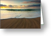 Na Pali Coast Kauai Greeting Cards - Kalalau Beach Sunset Greeting Card by Brian Ernst
