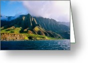 Na Pali Coast Kauai Greeting Cards - Kalalau Coast Greeting Card by Kevin Smith