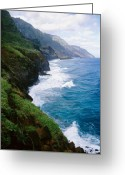 Na Pali Coast Kauai Greeting Cards - Kalalau Trail Greeting Card by Kevin Smith