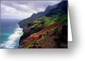 Na Pali Coast Kauai Greeting Cards - Kalalau Trail Return  Greeting Card by Kevin Smith