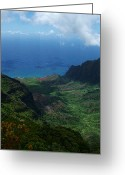Island Photos Greeting Cards - Kalalau Valley 2 Greeting Card by Ken Smith