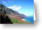 Sky Studio Greeting Cards - Kalalau Valley Greeting Card by Kevin Smith