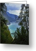 Hanalei Beach Greeting Cards - Kalalea Mountain Hike Greeting Card by Jeff Stein
