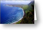 Peninsular Greeting Cards - Kalaupapa Peninsular Greeting Card by Kevin Smith