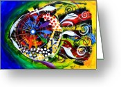 Tropical Fish Greeting Cards - Kaleidoscope Fish Greeting Card by J Vincent Scarpace