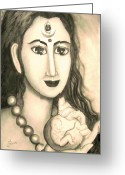 Goddess Posters Greeting Cards - Kali goddess s nice Mom  Greeting Card by Sri Mala