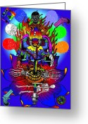 Stipple Engraving Greeting Cards - Kali Yuga Greeting Card by Eric Edelman