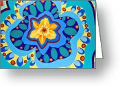 Bright Sculpture Greeting Cards - Kaliedoscope Greeting Card by Linda Rauch