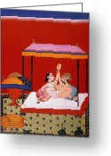Lover Greeting Cards - Kama Sutra Greeting Card by Granger