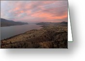 Kamloops Greeting Cards - Kamloops lake British Columbia Canada Greeting Card by Pierre Leclerc