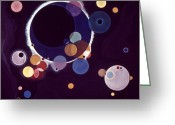 Circle Photo Greeting Cards - Kandinsky: Circles, 1926 Greeting Card by Granger