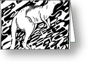 Learn To A Maze Greeting Cards - Kangaroo Maze Greeting Card by Yonatan Frimer Maze Artist