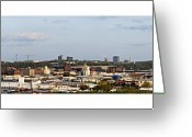 Kansas City Missouri Greeting Cards - Kansas City Missouri Panorama Greeting Card by Don Wolf