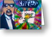 Kanye West Painting Greeting Cards - Kanye West Stronger Greeting Card by Tony B Conscious