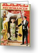 Magic Trick Greeting Cards - Karl Necromancer Greeting Card by Unknown