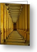 Tor Greeting Cards - Karlovy Vary Colonnade Greeting Card by Juergen Weiss