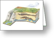 Cavern Greeting Cards - Karst Landscape Geology Greeting Card by Gary Hincks
