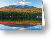 Baxter Park Greeting Cards - Katahdin Glow Greeting Card by Susan Cole Kelly
