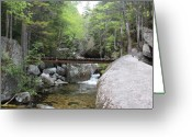 Lanscape Mixed Media Greeting Cards - Katahdin Stream Greeting Card by Lewis Journeyman