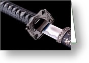 Fighting Greeting Cards - Katana Greeting Card by Gert Lavsen