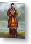 Mohawk Greeting Cards - Kateri Tekakwitha Greeting Card by Granger