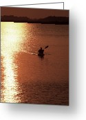 Sea Kayak Greeting Cards - Kayak, South Carolina Greeting Card by Dawn Kish