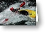 Adrenalin Greeting Cards - Kayaker 1 Greeting Card by Bob Christopher