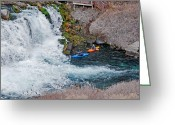 Prowess Greeting Cards - Kayakers Greeting Card by Mark Weber