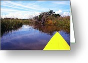 Sea Kayak Greeting Cards - Kayaking Bloody Marsh Greeting Card by Thomas R Fletcher