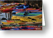 Rockport Ma Greeting Cards - Kayaks Greeting Card by Mike Martin
