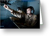 Inside Of Greeting Cards - Kc-10 Extender Boom Operator Adjusts Greeting Card by Stocktrek Images