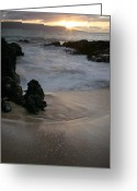 Beach Photographs Greeting Cards - Ke lei mai la o Paako Greeting Card by Sharon Mau