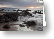 Islands Digital Art Greeting Cards - Keawakapu Kahaulani Dew of Heaven Maui Hawaii Greeting Card by Sharon Mau