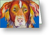 Australian Animal Greeting Cards - Keef Greeting Card by Pat Saunders-White