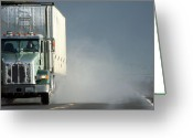 Gray Sky Greeting Cards - Keep On Truckin... Greeting Card by Holly Ethan