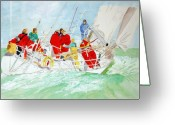 Sailing Fast Greeting Cards - Keep Smiling Greeting Card by Shirley Wilberforce