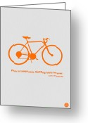 Bike Rider Greeting Cards - Keep The Wheels Turning 2 Greeting Card by Irina  March
