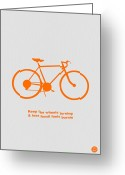 Bike Rider Greeting Cards - Keep the wheels turning Greeting Card by Irina  March