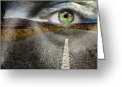 Assistance Greeting Cards - Keep Your Eyes on the Road Greeting Card by Semmick Photo