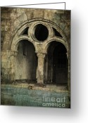 Gothic Arch Greeting Cards - Keeper Of The Crypt Greeting Card by Paul Ward