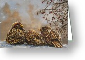 Fine Art - Animals Greeting Cards - Keeping Company Greeting Card by Enzie Shahmiri