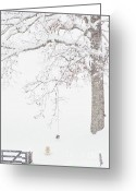 Snow Storm Greeting Cards - Keeping Watch Greeting Card by Thomas R Fletcher